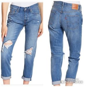 New Women Levi's 501 Taper Selvedge Jeans $178